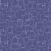 Lewis & Irene - Cocktail Party - 6533 - Glasses in Purple - A351.3 - Cotton Fabric
